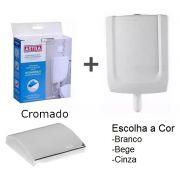 Kit Caixa De Descarga Baixa + Conversor Cromado Astra