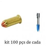Kit Finca Pino c22 + Pino com Furo 100 Peças