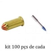 Kit Finca Pino c22 + Pino com Rosca 100 Peças