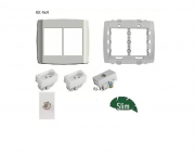 Kit Tomada 4x4 Com 3 Tomada 10a + 2 Rj45 + 2 Módulos Coaxial Antena + RJ11