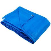 Lona Azul Polietileno Com Ilhoises 3 X 2