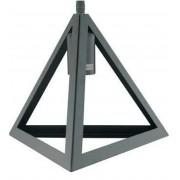 Luminária Pendente Triângulo Industrial Preto Ref. 7767a