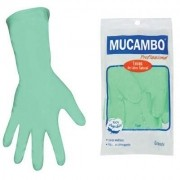 Luva Latex Verde Mucambo Flocado