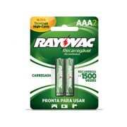 Pilha Recarregável Rayovac AAA Palito 2 Un