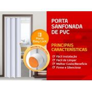 Porta Sanfonada Branca 70cm Easy Lock Araforros