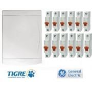 Quadro De Distribuição com 12 Disjuntores de 10 a 32a Tigre