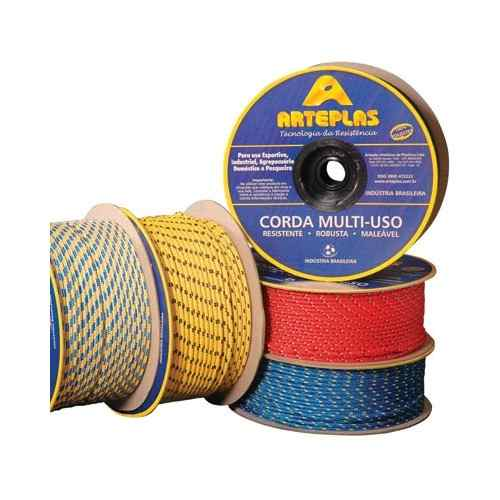 Corda Pp Multifilamento Colorida 3mm Com 220 Metros
