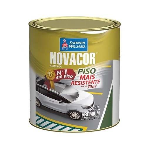 Tinta Pinta Piso Novacor Gl 3,6l Preto Sherwin Williams