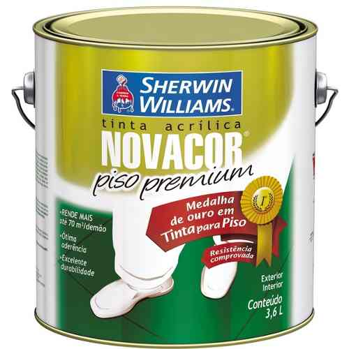 Tinta Pinta Piso Novacor Gl 3,6l Amarelo Sherwin Williams