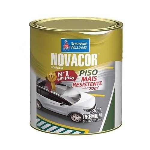Tinta Pinta Piso Novacor Gl 3,6l Amarelo Demarcação Sherwin Williams