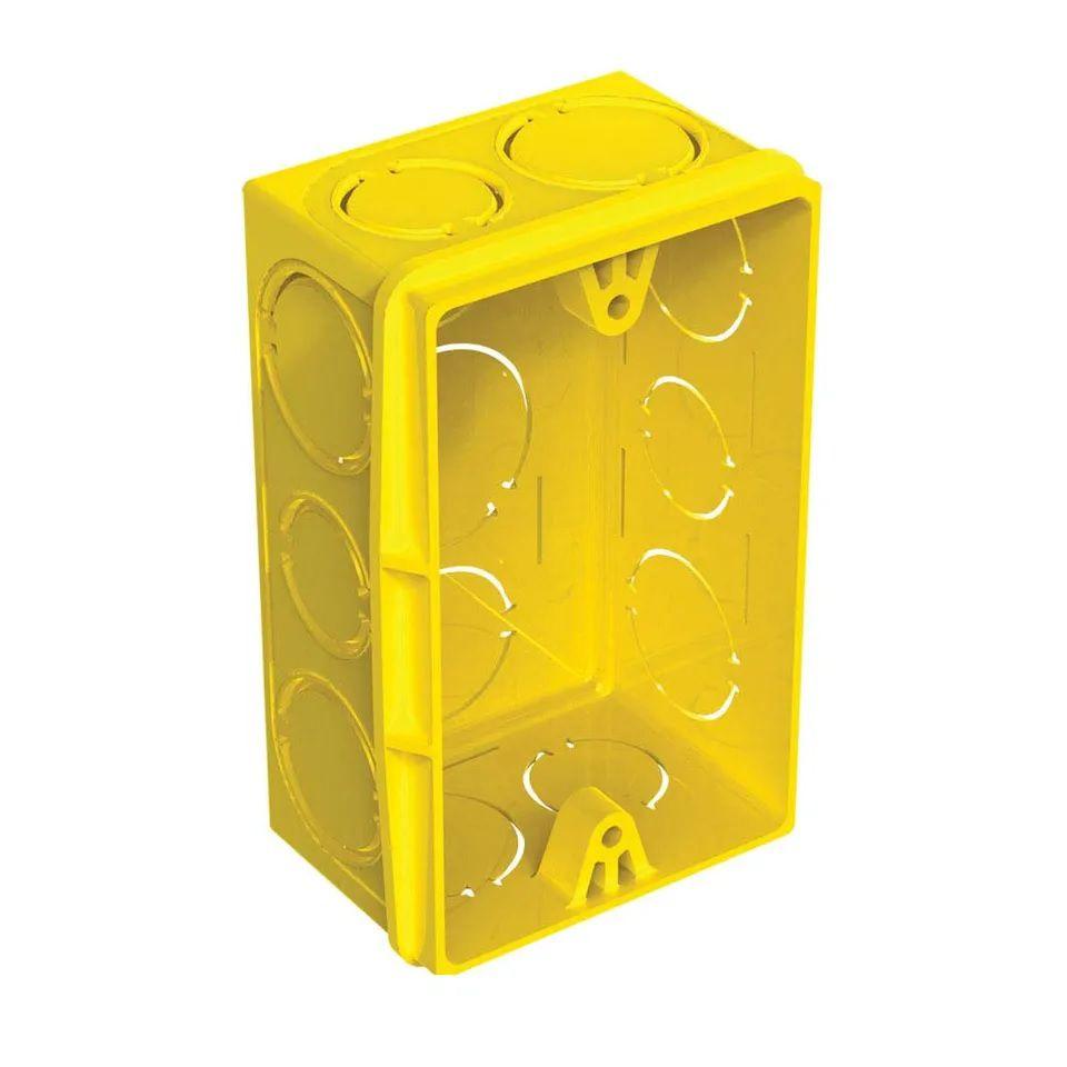 Caixa De Luz 4x2 Amarela Tigre