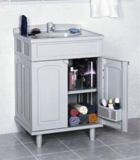 O melhor preço de Gabinete Lavatório Para Banheiro Com Cuba Gabmax Astra você -> Gabinete De Banheiro Astra