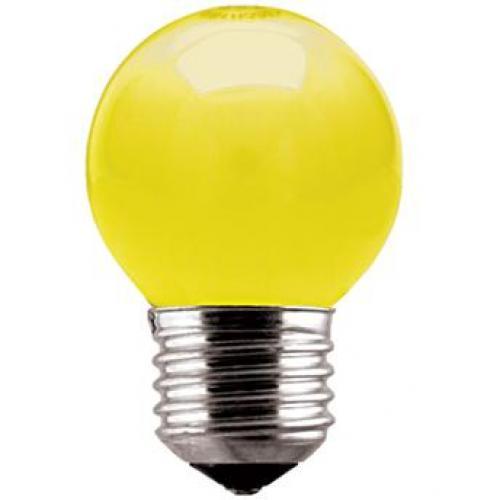 Lâmpada Bolinha 15w 127v Rosca E-27 Amarelo