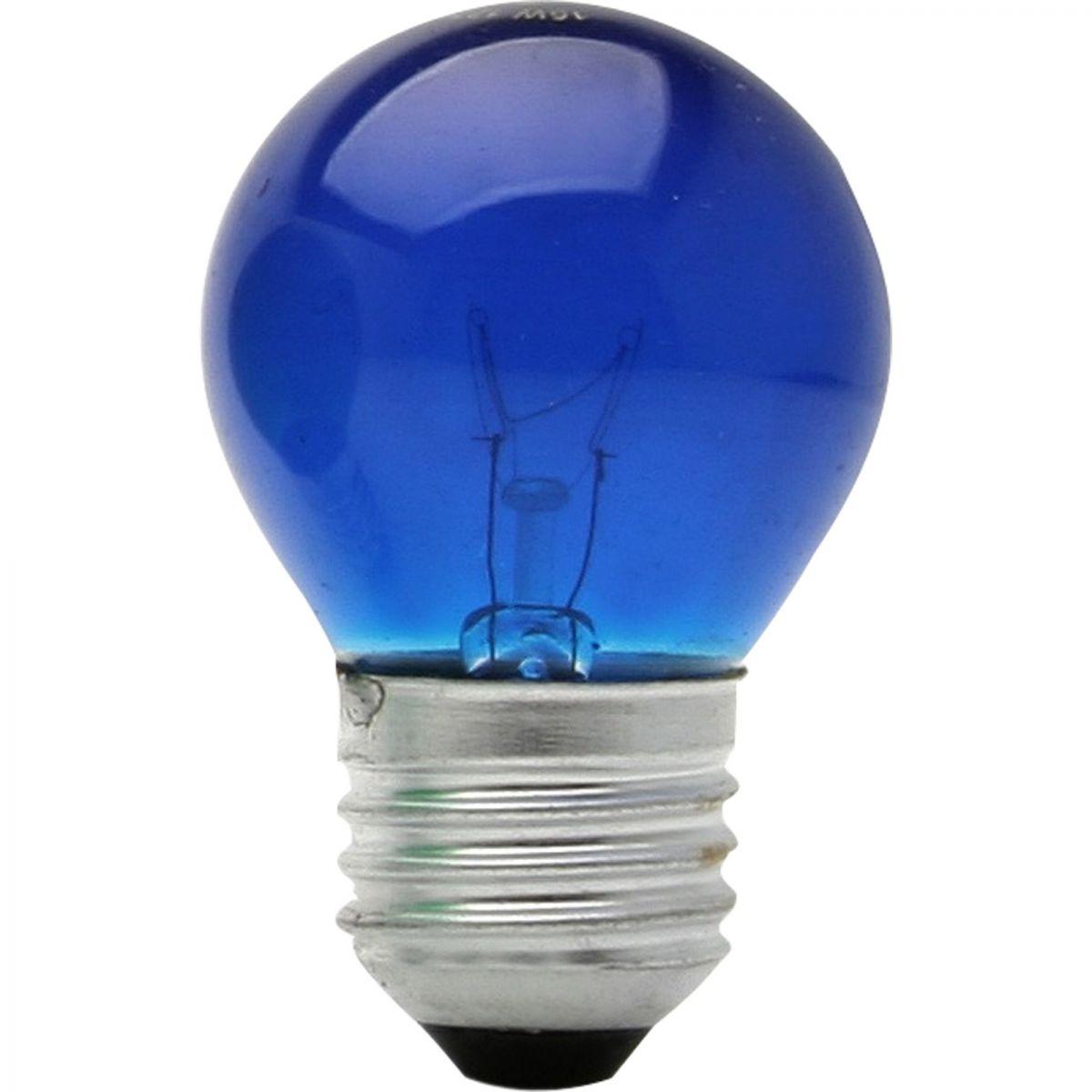 Lâmpada Bolinha 15w 127v Rosca E-27 Azul