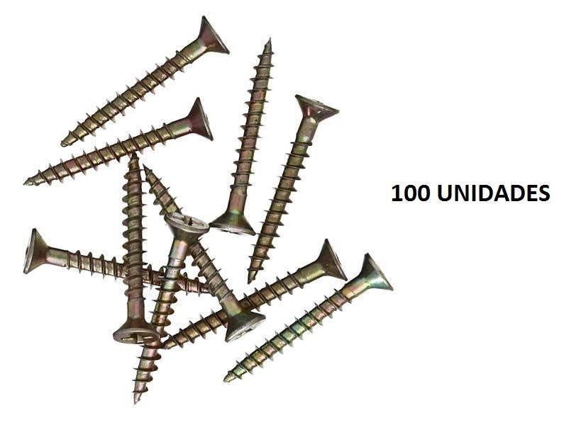 Parafuso Chipboard Cabeça Chata 4,0 X 16 100 Peças