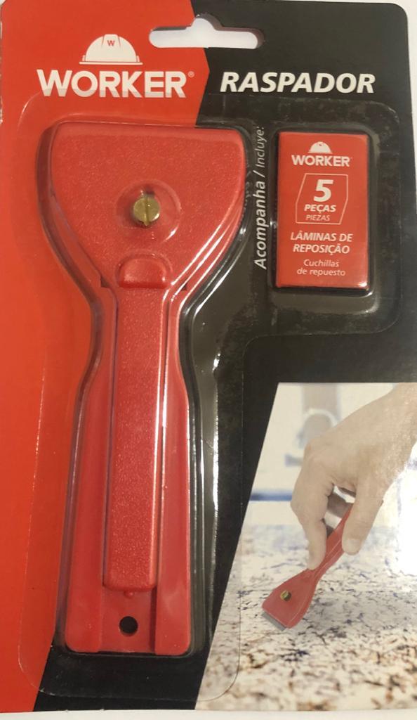 Raspador de Vidro Ceramica Tinta C/ 5 Lâminas de Reposição