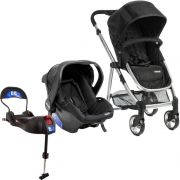 Carrinho com Bebê Conforto Epic Light - Onyx (Preto) + Base Isofix - Infanti