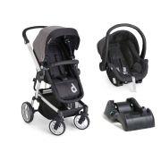 Carrinho com Bebê Conforto Zolly Preto + Base (Preto) - Dzieco