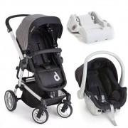 Carrinho com Bebê Conforto Zolly Preto com Base - Dzieco