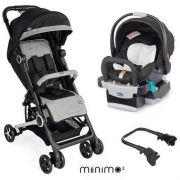 Carrinho com Bebê Miinimo Black Night + Cadeira Keyfit - Chicco