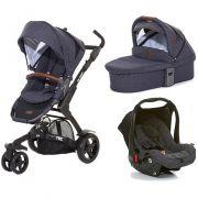 Carrinho De Bebê 3 Rodas 3 Tec Style Street + Moisés + Bebê Conforto - Abc Design