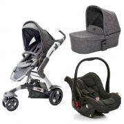 Carrinho De Bebê 3 Rodas Moisés 3 Tec Track + Bebê Conforto - Abc Design