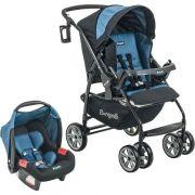 Carrinho de Bebê AT6 K com Cadeira Touring SE Preto com Azul - Burigotto