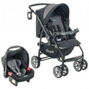 Carrinho de Bebê AT6 K Preto / Cinza com Cadeira Touring SE - Burigotto