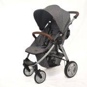 Carrinho De Bebê Avito Race (Cinza) - Abc Design