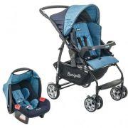 Carrinho de Bebê com Bebê Conforto Rio K Geo Azul - Burigotto