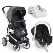 Carrinho de Bebê com Bebê Conforto Zolly Preto com Base - Dzieco