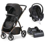 Carrinho de Bebê Maly Black Copper + Bebê Conforto Cocoon + Base - Dzieco