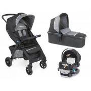 Carrinho de Bebe Moisés Kwik.One Black (Preto) + Cadeira para Auto KeyFit - Chicco