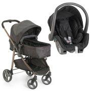 Carrinho de Bebê Moisés Olympus Black + Bebê Conforto - Galzerano