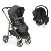 Carrinho de Bebê Moisés Olympus Black (Preto) + Bebê Conforto - Galzerano