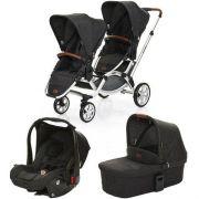 Carrinho de Bebê Para Gêmeos ABC Design Zoom + Moisés + Bebê Conforto Piano - ABC Design