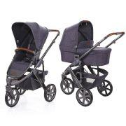 Carrinho de Bebê Salsa 3 Rodas com Moisés Style Street (Cinza Escuro) - ABC Design