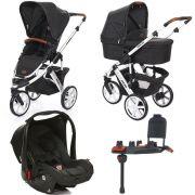 Carrinho de Bebê Salsa 3 Rodas Piano + Moisés + Bebê Conforto + Base Isofix - ABC Design