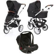 Carrinho de Bebê Salsa 3 Rodas Piano (Preto) + Moisés + Bebê Conforto - ABC Design