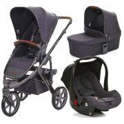 Carrinho de Bebê Salsa 3 Rodas Style Street (Cinza Escuro) + Bebê Conforto - ABC Design