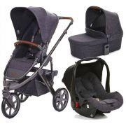 Carrinho Moisés de Bebê Salsa 3 Rodas Style Street com Bebê Conforto - ABC Design