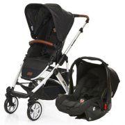 Carrinho de Bebê Salsa 4 Rodas + Bebê Conforto Piano (Preto) - ABC Design