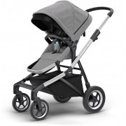 Carrinho de Bebê Thule Sleek Gray Melange (Cinza) - Thule