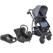 Carrinho de Bebê Travel System Explore Azul + Casulo Click + Base - Kiddo