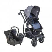 Carrinho de Bebê Travel System Explore Azul + Casulo Click - Kiddo