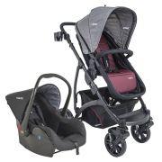 Carrinho de Bebê Travel System Explorer Vinho + Casulo Click - Kiddo