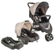 Carrinho de bebe Trio Com Bebê Conforto Whoop + Base Cappuccino - Kiddo