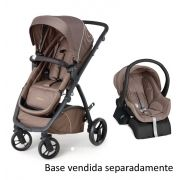 Carrinho de Passeio com Bebê Conforto Maly Chocolate (Marrom) - Dzieco