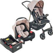 Carrinho Ecco Capuccino + Bebê Conforto Touring Evolution Se + Base - Burigotto