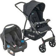 Carrinho Ecco Preto com Bebê Conforto Touring Evolution Se - Burigotto
